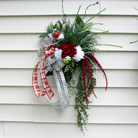 Christmas Wreaths For Double Front Doors: Items Similar To Christmas Swags, Christmas Wreath