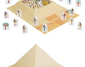 Pyramid Paper Toy - DIY Paper Craft Kit - 3D Model Paper Figure