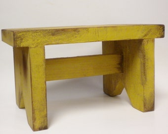 Primitive Bench - Made To Order, Painted Wood Benches, Country Bench Risers, Stacking Benches