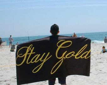 Stay Gold Towel - Bath, Beach, Hand  - Classic