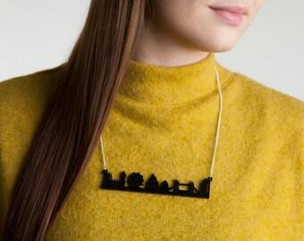British London Skyline Pendant Acrylic Jewellery Necklace SALE