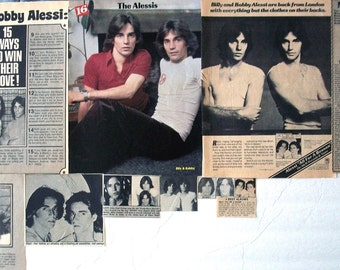 ALESSI BROTHERS ~ Billy and Bobby Alessi, Oh Lori, Don't Hold Back, Sad Songs ~ Color and B&W Clippings, Articles, Pin-Ups from 1976-1979