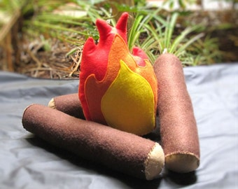 Felt Campfire Set, Indoor Camping Toy, T Pee, Play Campfire, Indoor Game, Creative Play Toy, Felt Camping Toy, T Pee Fire, Montessori Toy