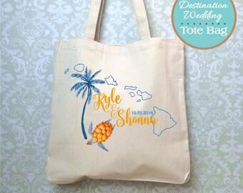 Hawaiin Island Destination Wedding Bag, Design Proof Only, Hawaii Wedding Favors, Destination Wedding Gift, Hawaii Wedding, Wedding Bag