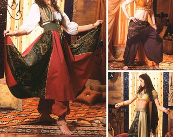 Simplicity 5359 Misses' Genie, Harem Girl or Belly Dancer Costume Sewing Pattern