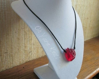 Abstract Red Heart Necklace