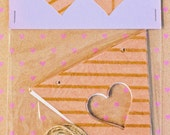 Heart Bunting Pack: Gold Patterns