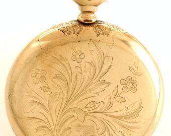 RARE Antique Ball Pocket Watch ca 1901 - Pristine Working Condition - T677