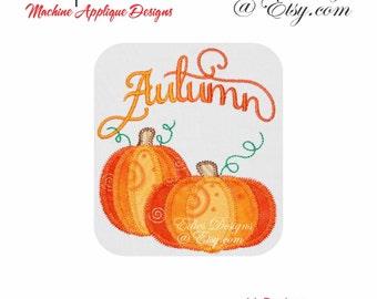 Pumpkin Set APPLIQUE Machine Embroidery Designs Halloween Applique Designs Digital Download