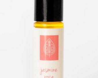 Jasmine Rose Oil Perfume, Jasmine Perfume, Rose Perfume, Natural Perfume, Handmade Perfume, Travel Perfume, Roll-on Perfume, Essential Oils