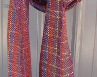 Handwoven super soft alpaca & silk scarf