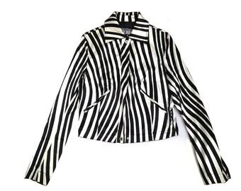 Gianfranco Ferre stripe cropped jacket
