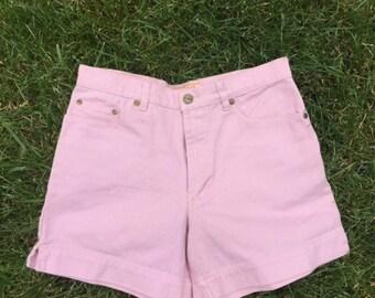 Baby Pink High Waist Shorts