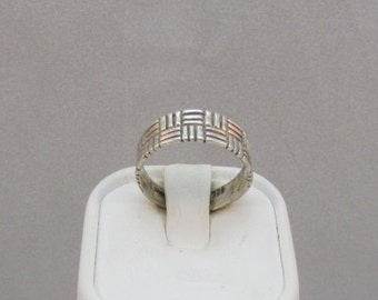 Sterling Silver Adjustable Band Ring Size 6
