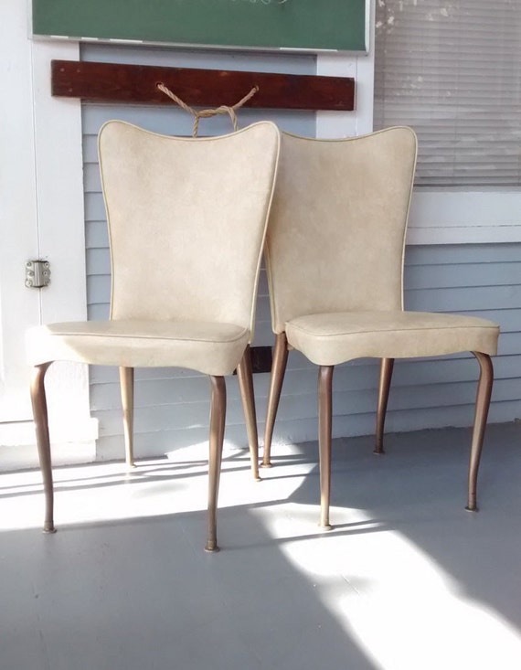 Sale Vintage High Back Plush Kitchen Chairs Dining Chairs