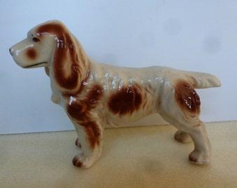 Beautiful Hunting Spaniel Dog Figurine