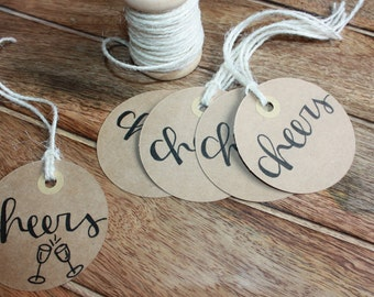 Gift Tags   Cheers   Set of 5