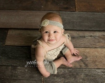 Sitter Romper, Lace Romper, Photo Props, Baby Prop, Baby Jumpsuit,  Baby Girl Romper, 9 Months Romper, Photography Prop, Baby Romper