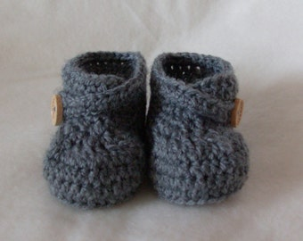 Custom - Crochet Wrap Over Strap Baby Boot Booties - MADE TO ORDER