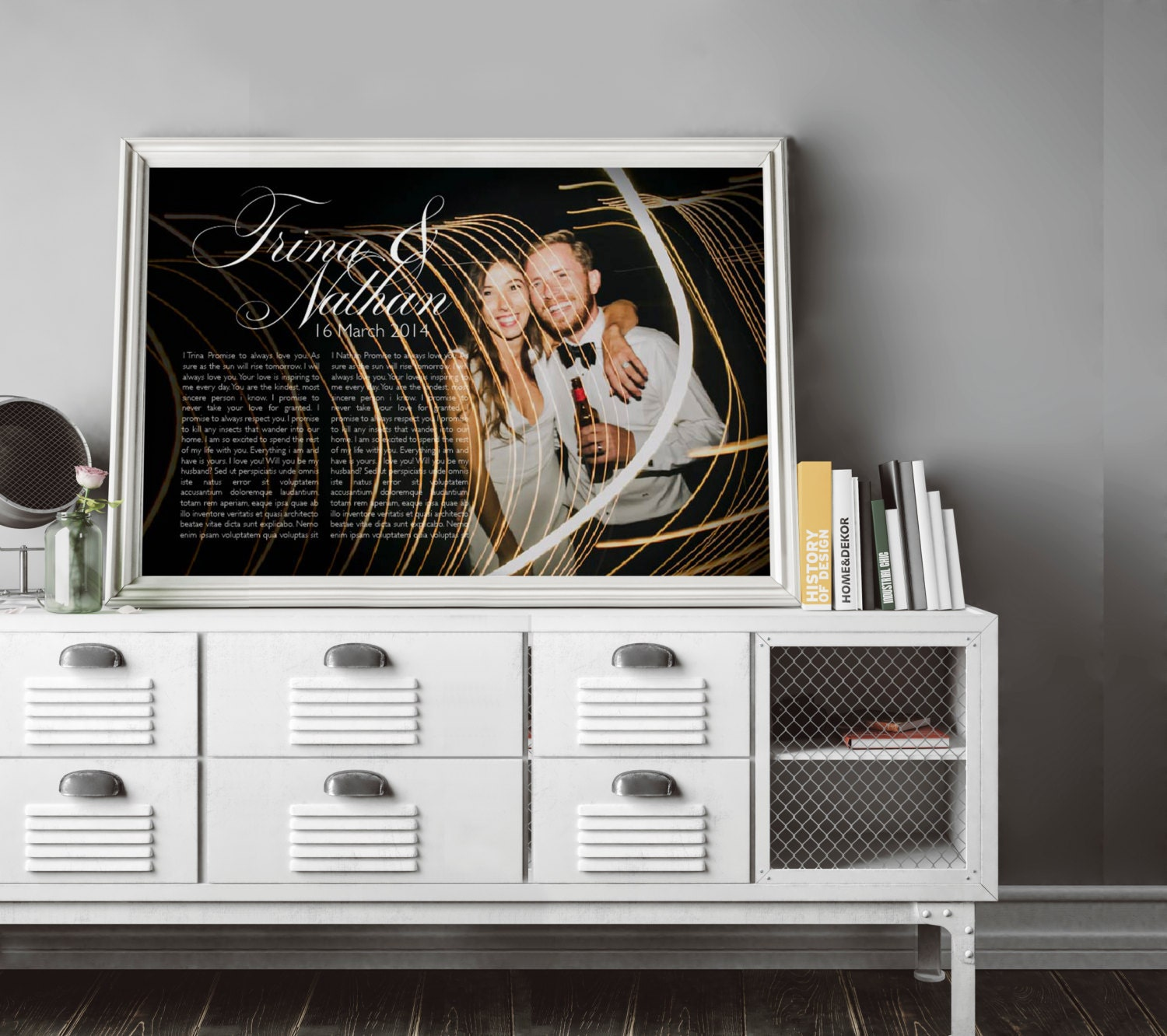 1st anniversary gift - anniversary gift - paper anniversary gift for him - 16x20 print - first song lyrics - first dance lyrics - mens gift