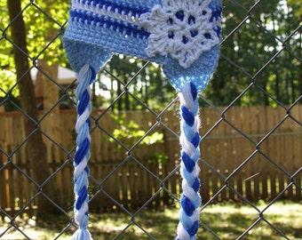 Snowflake Winter Blue Hat