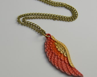 Final Fantasy Inspired Phoenix Down Pendant Necklace