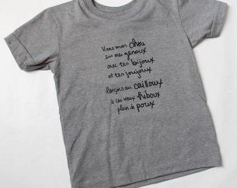 t-shirt unisex, toddler, clothing toddler, hipster toddler, kids clothing, toddler clothes, screen print, bio coton polyester, t-shirt kid