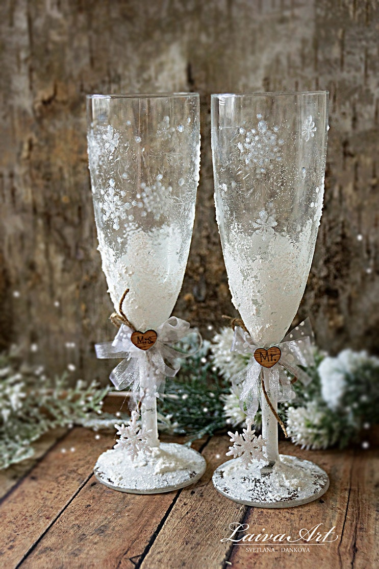 Painted Wedding Glasses