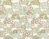 Turtle Fabric, Babes in the Woods by Timeless Treasures, Gail-C4310 Butter, Woodland Animal Fabric, Baby Quilt Fabric, Cotton