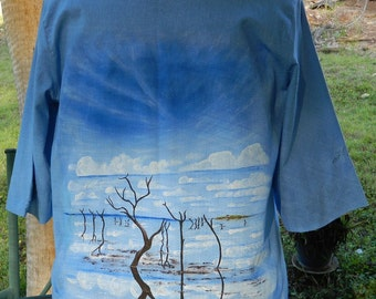 Painted Shirt of Lake Argyle W.A.