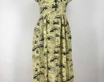 Hand Sewn Vintage 1930s Dress
