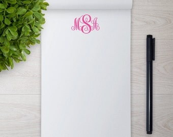 Personalized Notepad -- Fancy Monogram // Personalized Stationery // Custom Notepad // Monogram Notepad // Coworker Gift // Bridesmaid Gift