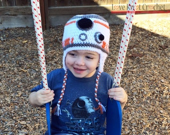 Star Wars BB-8 Inspired Crochet Hat PATTERN