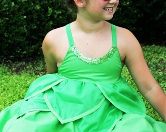 Disney's Tinker Bell inspired Princess dress, Costume dress, Halloween dress up, Party dress up! Peter Pan!