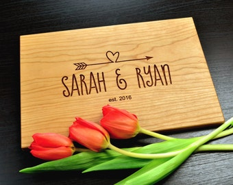 Custom Cutting Board-Engraved Cutting Board, Custom Personalized Wedding Gift, Housewarming Gift, Anniversary Gift, Custom Cutting