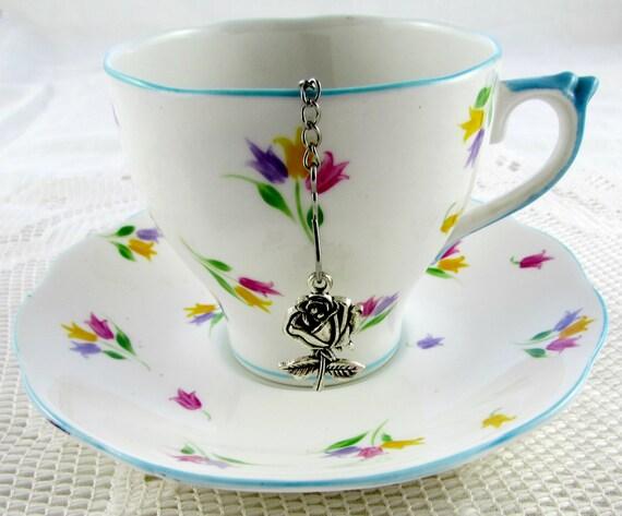 tea infuser with charm for leaf tea