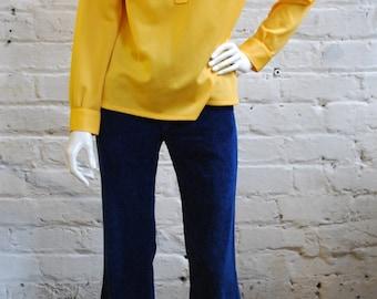 Vintage yellow 70s shirt // Size 10