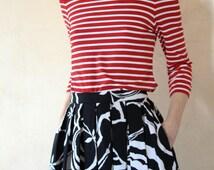 Off-The-Shoulder Top, Striped Shirt, Cold Shoulder Tops, Women's Resort Wear