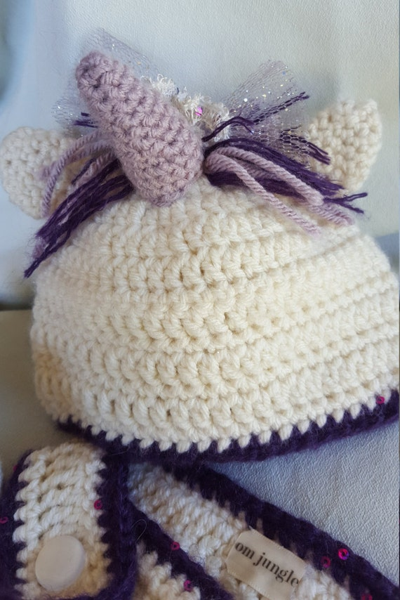 Crochet Unicorn Outfit : Baby Unicorn Crochet Hat, Diaper Cover, Newborn Outfit, Baby Costume ...