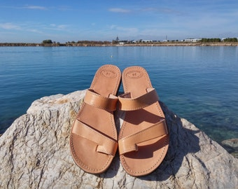 Classic Ancient Greek Sandals, Leather Sandals - Summer Sandals. Handmade in Greece.