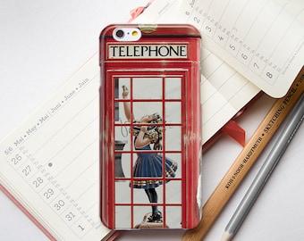 iPhone 6 Case Retro iPhone 6s Case Vintage Retro iPhone Case London Red Public Telephone Box iPhone 5S Case Vintage iPhone 4S Case