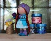 Olivia Doll-Handmade Doll-Textile Doll-Fabric Doll-Home Decoration-Handmade Toy-Rag Doll-Interior Doll