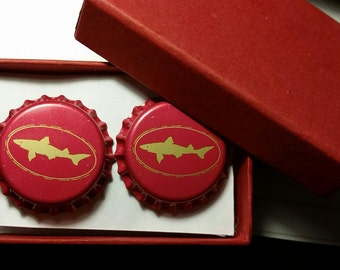 Dogfish Head Bottle Cap Cufflinks