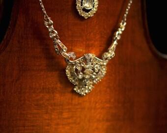 Gypsy Multi-Strand Necklace by Fae Factory Crystal Artist Dr Franky Dolan {Original Statement Handmade Tiered Jewelry Art Deco Rhinestone}