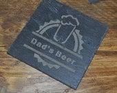 Beer Slate Personalised Coaster
