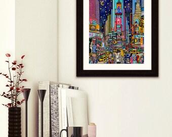 Times Square ART- Times Square print-Times Square Gift-New York gift-New York Art-Times Sq Art-New York Art Gift-New York Times Square print
