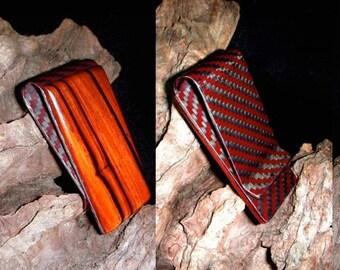 Wood Carbon Fiber Money Clip -  Money holder -  Money Clip Gift for the Groom - Gift for Dad - Birthday gift - Unisex money clip -