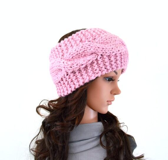 Chunky Knit Cable Ear Warmer Headband Hairband Hair by ...