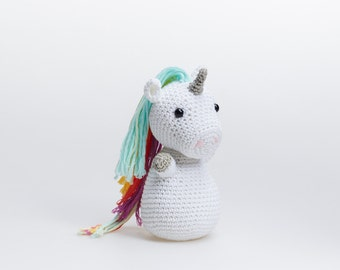 Amigurumi Unicorn, Unicorn Amigurumi Plush, Crochet Unicorn Stuffed Toy, Unicorn Stuffed Animal