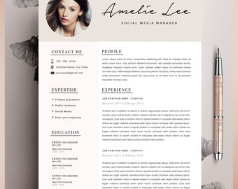 creative resume template cv template instant download editable in ms word and pages